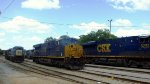 CSX Evins St. Yard a good variety of engines this Sunday