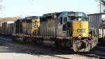 CSX 8058 & 4026 SD40's at the Yard