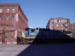 CSX 7576 with familiar landmark