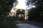Inbound shunting off to the yard