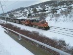 BNSF in the snow