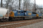 CSX SD60M 8784 trails on X439-23