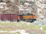 BNSF FREIGHT AT THERMOPOLIS, WY WIND RIVER HELPER
