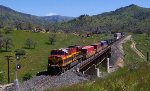 KCS 4699 heads downgrade with a short intermodal train