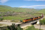BNSF 5181 climbs out of Caliente with a unit coil train