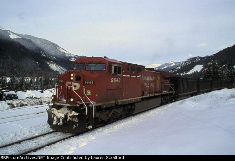 CP 9648 coal train W/B