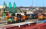 BNSF 3413, 4954, and 3458
