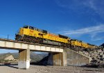 UP 8148 crosses the dry wash near RT. 138 on the Palmdale Cut-off