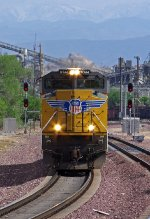 UP 8344 makes a light power move at Victorville