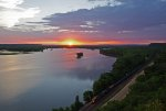 Sunset from Mississippi Palisades State Park