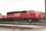 SOO SD 40-2 6614 at St. Luc yard.