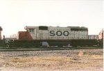 SOO SD 40-2 774 at St. Luc yard.