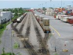 CP's Lachine intermodal yard during the strike.