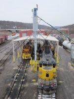 B&P's locomotive servicing area