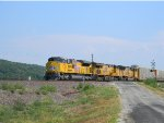 UP 8733 Leads UP Train AEGAS-09