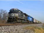 NS 1057 and the Conrail Heritage Unit Sit in Granite City Leading NS Train 430