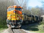 BNSF Idling with 2 UP's and 3 CSX's near Boyles Yard
