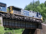 CSX 484 on a Clinchfield bridge