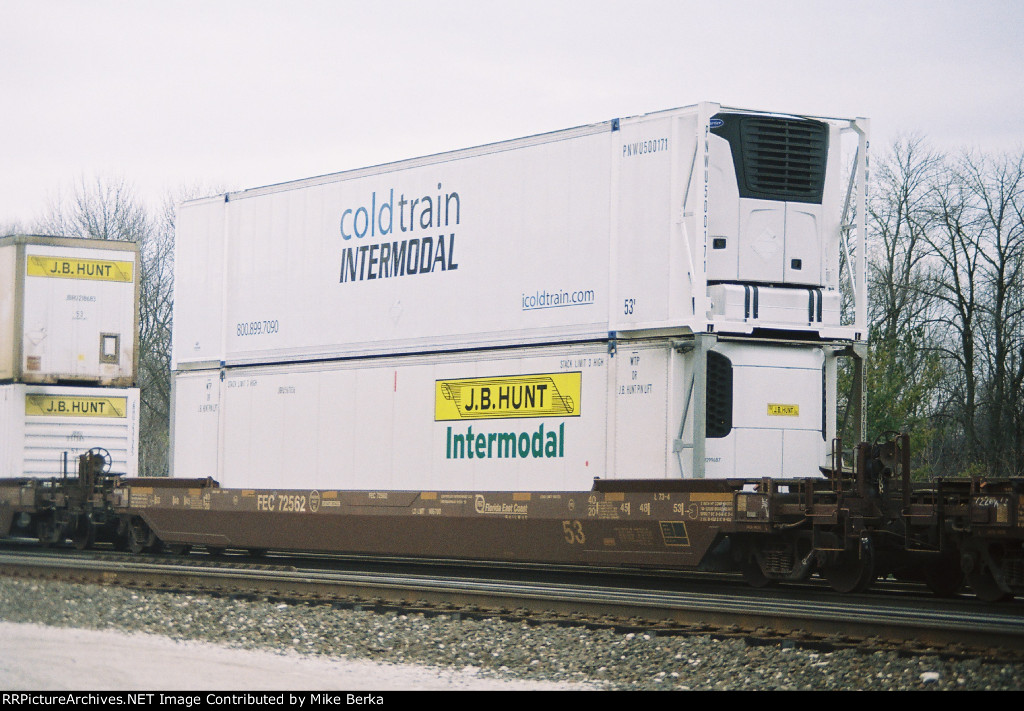 cold train intermodal and j b hunt
