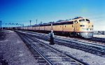 UP 926 in 1958 enters Cheyenne after coming down from Sherman Hill