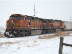 BNSF 5365 in the snow