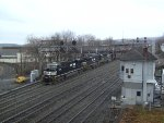 NS 7589 Leads Eastbound Manifest