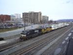 NS 9213 Leads Westbound Intermodal