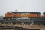 BNSF 8827 Departing In A Good Ole Colorado Snow Storm