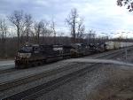 NS 9734 Leads Eastbound Intermodal