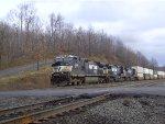 NS 9875 Leads Westbound Intermodal