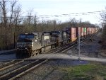 NS 9610 Leads a Eastbound Intermodal