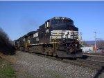 NS 9266 Leads Westbound Intermodal