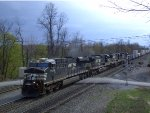 NS 7614 Leads an Eastbound Intermodal