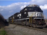 NS SD70ACe 1009 Leads Westbound Coal Empties