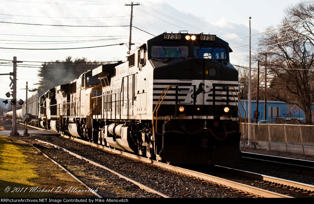 The Harrisburg Division Local, H11, with a mix of power heads to the Buckeye Pipeline terminal for a setoff