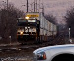 An Early 25Z with a short set of intermodal trailers makes its way to Chicago, IL