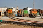 BNSF 4436, 1696, and 6100