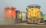 UP 8124 and CN 8889