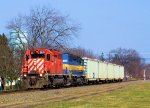 "CP 5671 DME 6362 ""City of Lamberton"" on D&H Train 257"