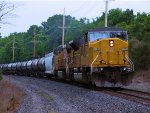 UP 8038 SD9043MAC UP 5879 CSX K467 Ethanol Empties
