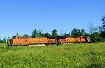 BNSF 4147 5165 CSX K495 Ethanol Empties