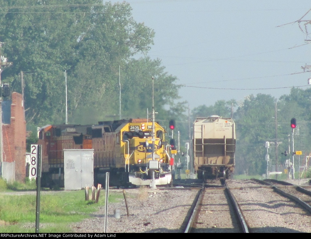 BNSF local switching