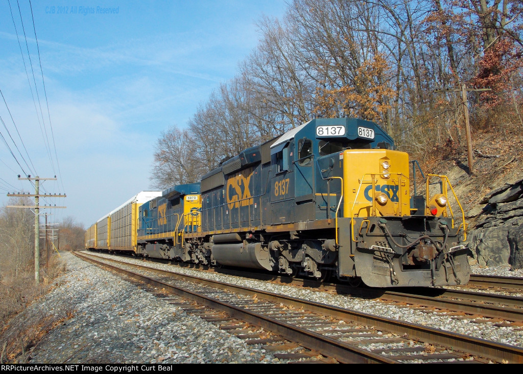 CSX 8137 and 5970