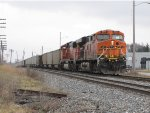 BNSF 6086 & 8968 follow N956 east to give it a shove out of town on the other side of the yard