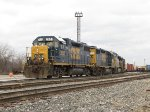 CSX 2635 leads 3 more units out the west end Even Lead