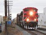 FXE 4066 rolls onto Track 2 leading D700-06 eastward