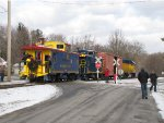 The Santa Special pulls into Lydell Park