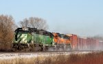 Westbound BNSF Freight with 4 Beautiful SD40's