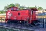 ATSF 999130, Steel Rivited Caboose, on display