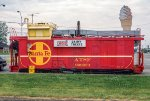 ATSF 999623, Steel Riveted Caboose, converted to ice cream shop